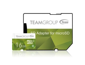 Карта памяти MicroSDHC 16GB UHS-I Team Color + SD-adapter Green (TCUSDH16GUHS43)